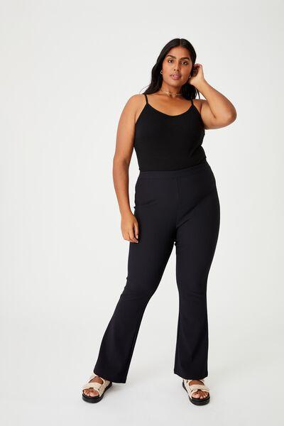 Curve Jersey Flare Pant, BLACK