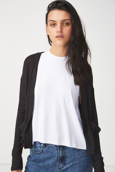 Ot Sammy Short Cardigan, BLACK