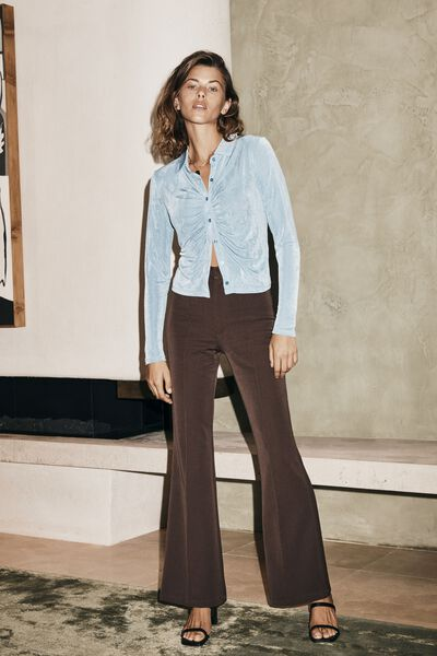 Bowie Flare Pant, CHOCOLATE BROWN