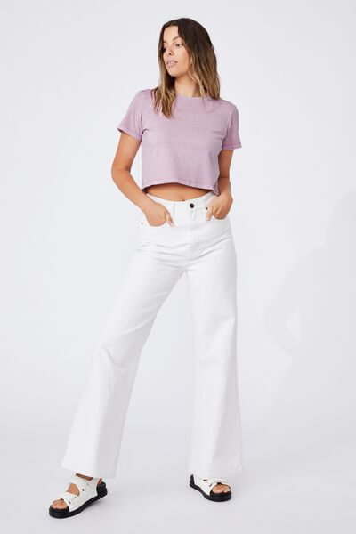 The Baby Tee, WASHED SOFT MAUVE