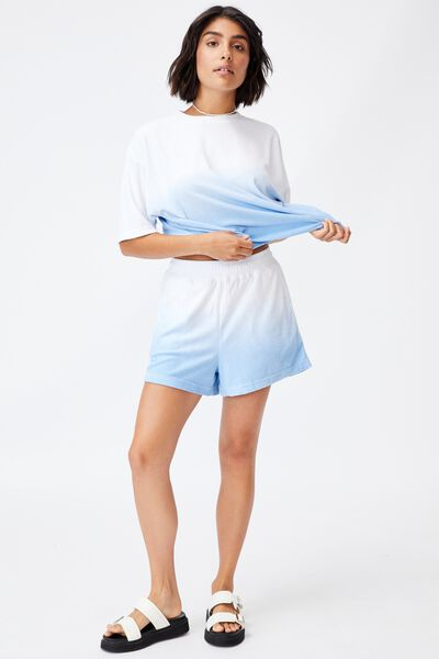 Terry Towelling Short, OMBRE BLUE