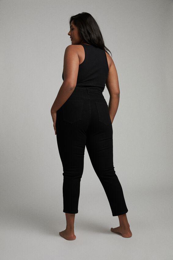 Curve Taylor Mom Jean, BLACK