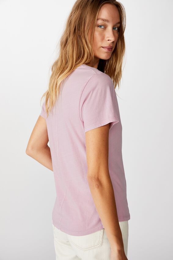 The One Fitted V Tee, WASHED FRAGRANT LILAC