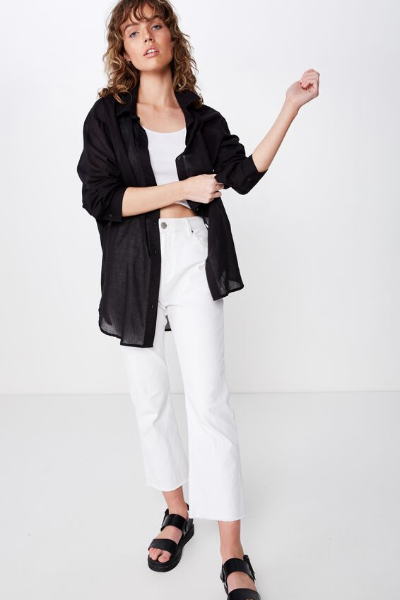 Savannah Oversize Resort Shirt, PIRATE BLACK