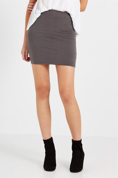 Mini Tube Skirt, DEEPEST GREY