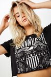 Cropped Band T Shirt, LCN JOHNNY CASH EAGLE/BLACK