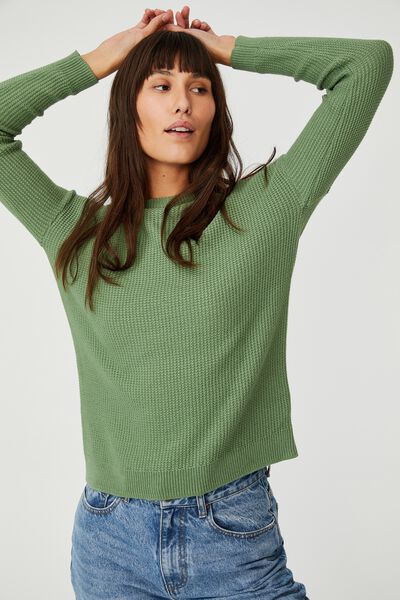Cotton Pullover, PISTACHIO GREEN