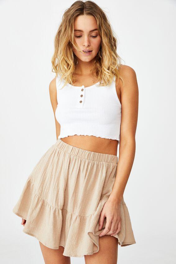 Spin Me Around Circle Skirt, LATTE