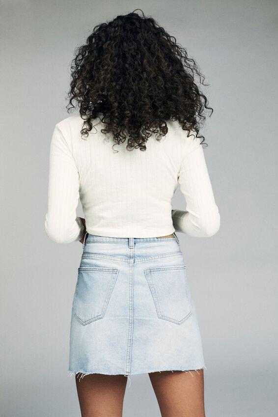 The Classic Denim Skirt, BROOKLYN BLUE