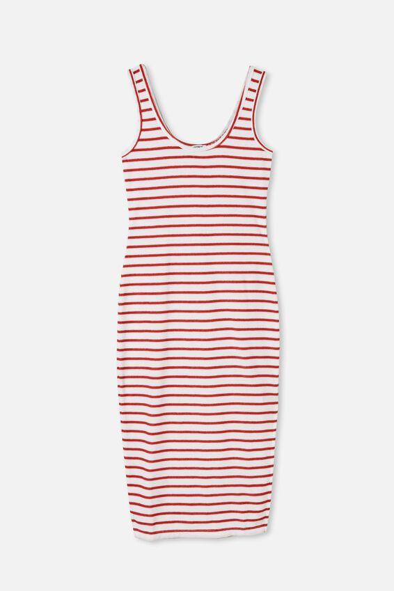Tessa Tank Dress, WHITE/RED CLAY STRIPE
