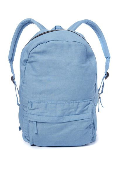 Grom Backpack, WASHED CHAMBRAY
