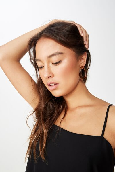Pippa Chopped Cami, BLACK