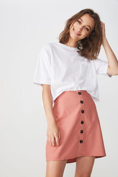 Woven Medina Mini Skirt, ROSE TAN