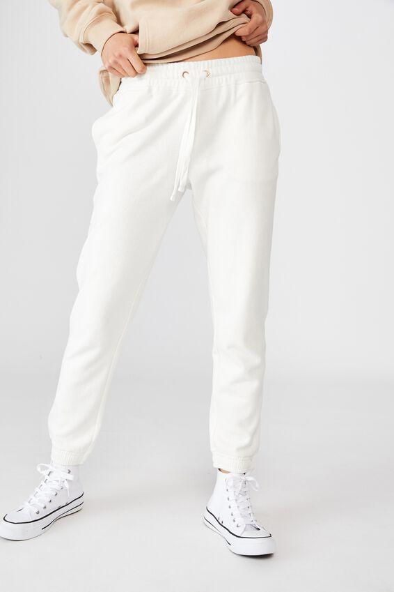 Slim Fit Trackpant, CLOUD DANCER