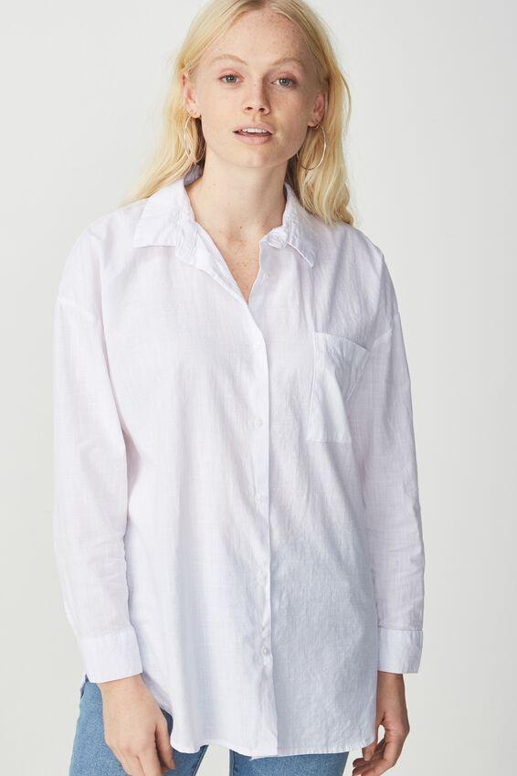 Monique Shirt, WHITE