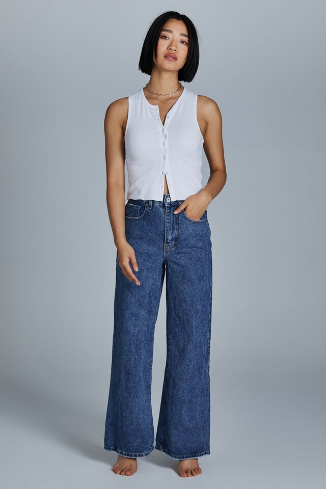 Petite Wide Leg Jean, COOGEE BLUE