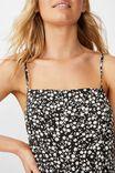 Woven Kendall Mini Dress, TAYLAH DITSY PIRATE BLACK