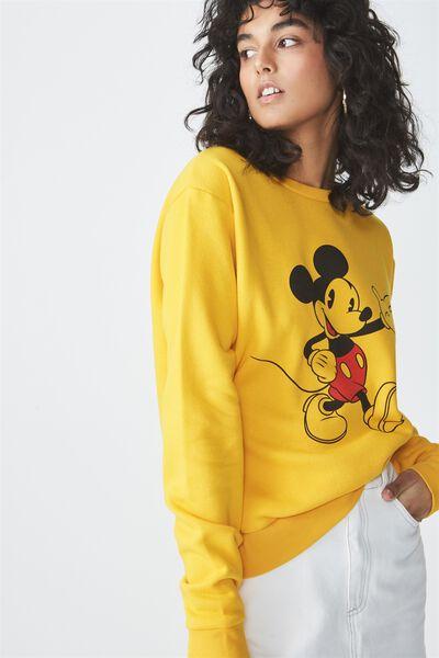 Ferguson Graphic Crew Sweater, LCN MICKEY MARCHING/GOLDEN ROD