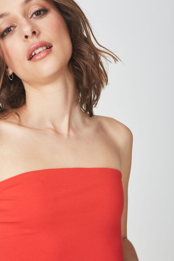Everyday Tube Top, FLAME SCARLET