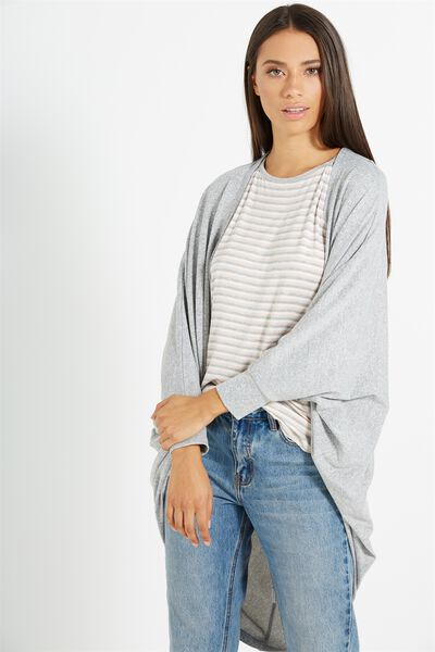 Ot Lila Cocoon Cardigan, GREYS TWIST