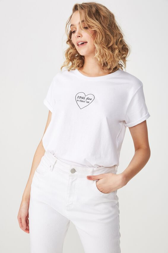 Tbar Fox Graphic T Shirt, DOING FINE/WHITE
