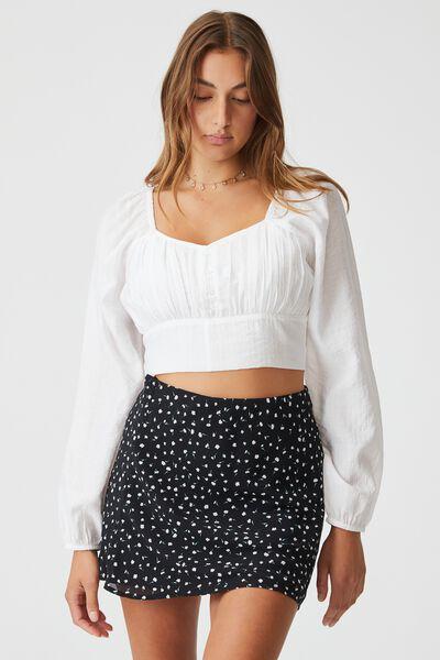 Woven Kaity Slip Mini Skirt, ERIN DITSY BLACK