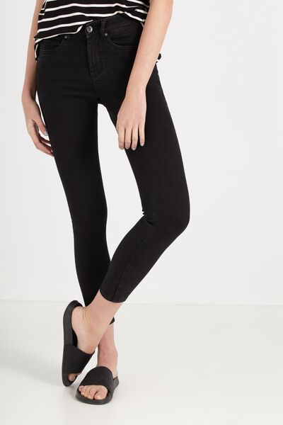 Mid Rise Shape Embracer Skinny Jean, BLACK WASH