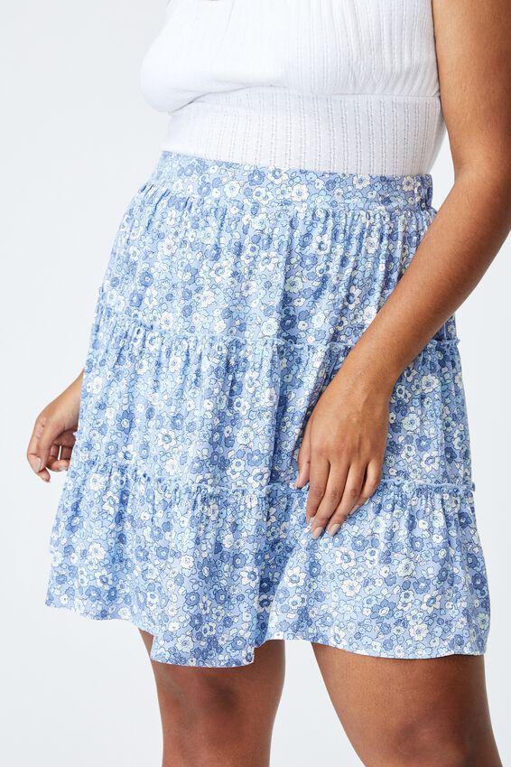 Curve Sky Skater Mini Skirt, WINDSOME DITSY DUSK BLUE