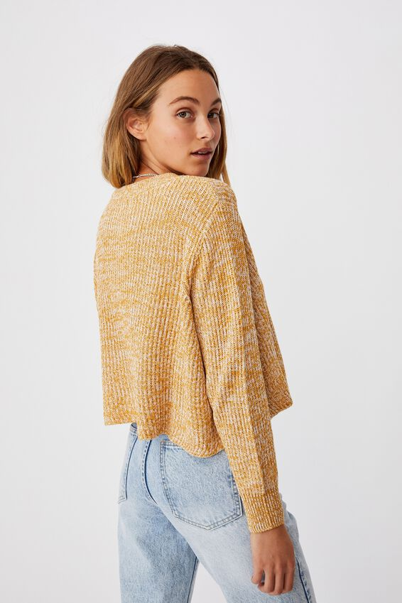 Archy Cropped 2 Pullover, GOLDEN TWIST