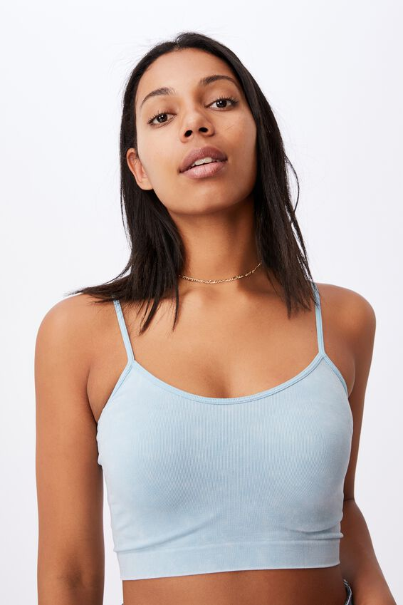 Isla Seamless Cami, WASHED DAISY BLUE