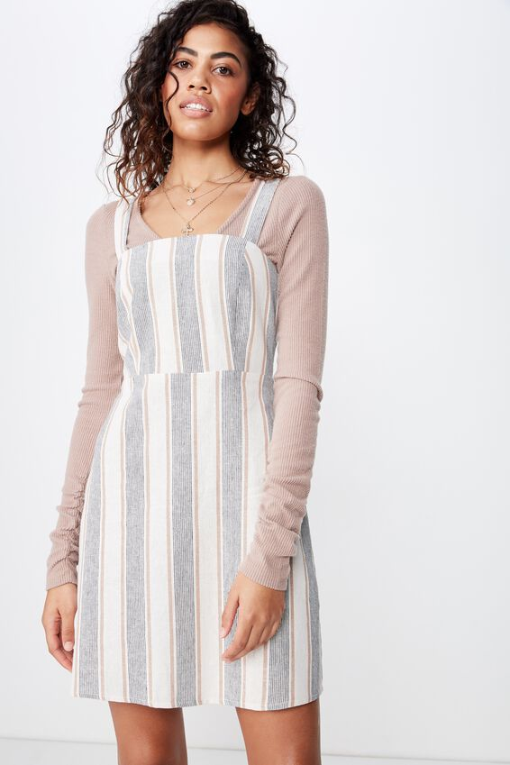 Woven Krissy Dress, PIPER MULTI STRIPE CREAM- LWS