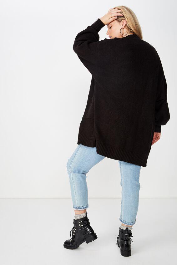 Curve Luxe Cardi, BLACK