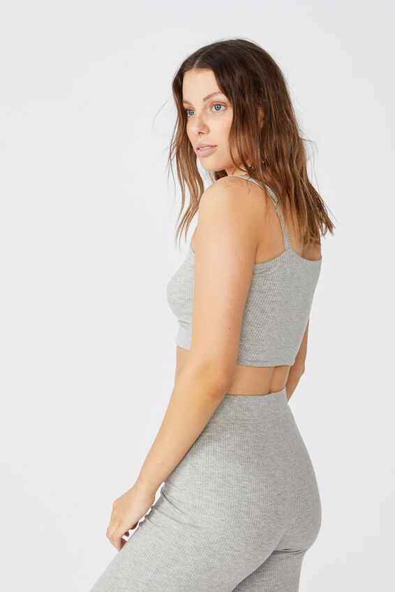 Piper Rib Tank, GREY MARLE