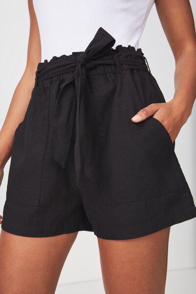 High Waist Short, BLACK