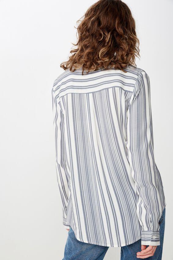 Rachel Everyday Shirt, ALLIE MULTI STRIPE SLEET