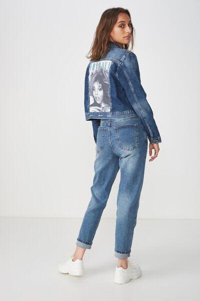 Girlfriend Fashion Denim Jacket, WHITNEY