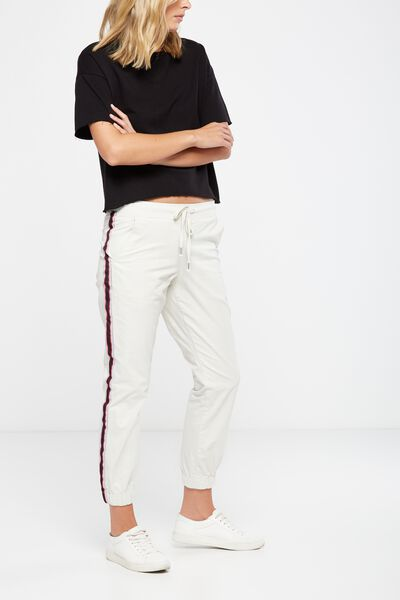 The Cuffed Chino, PARCHMENT RACING STRIPE