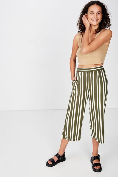 Sophie Culotte, LOUISE STRIPE OLIVE NIGHT