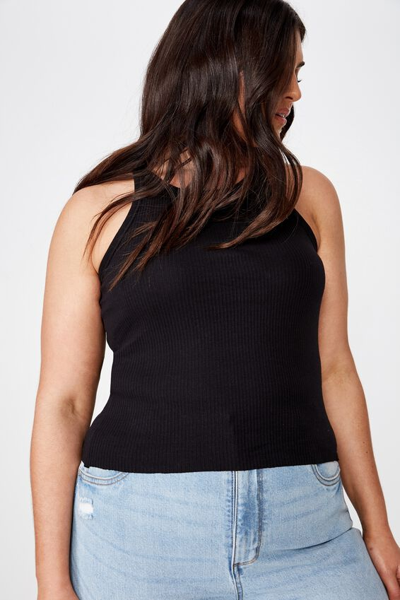 Curve Turnback Tank, BLACK