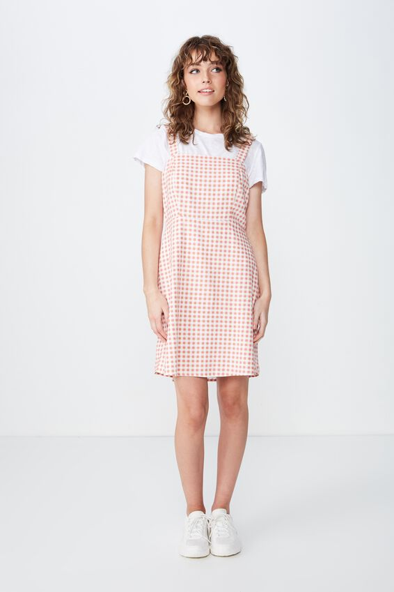 Woven Krissy Dress, CARMEN GINGHAM TERRACOTTA