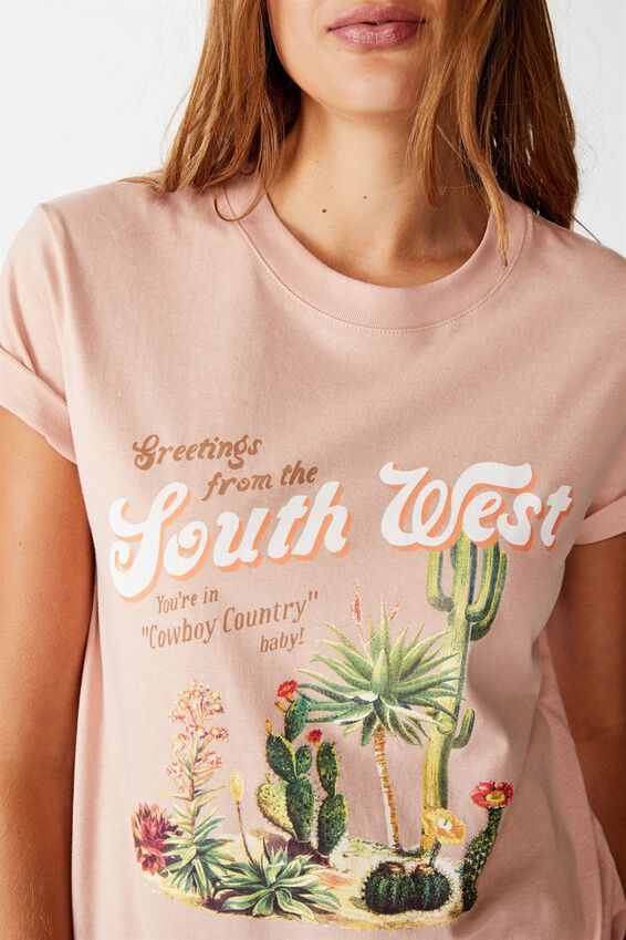 Classic Arts T Shirt, SOUTH WEST/MISTY ROSE