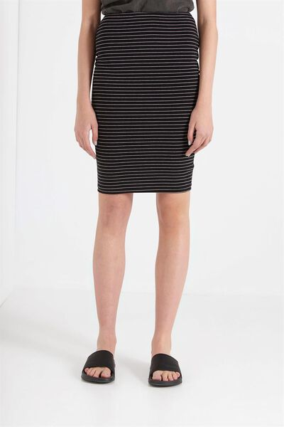 Midi Tube Skirt, BLACK/WHITE FRANK STRIPE