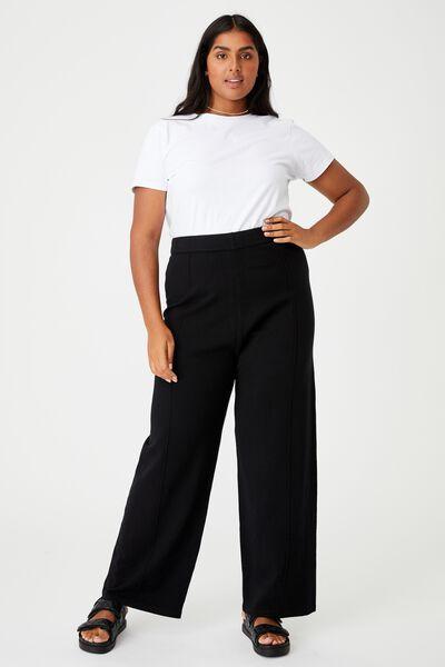 Curve Soft Knit Pant, BLACK