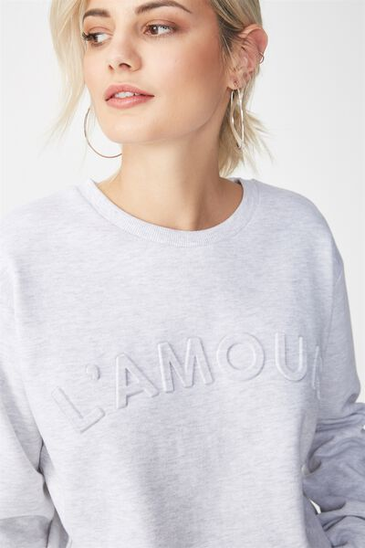 Ferguson Graphic Crew Sweater, LAMOUR/SILVER MARLE
