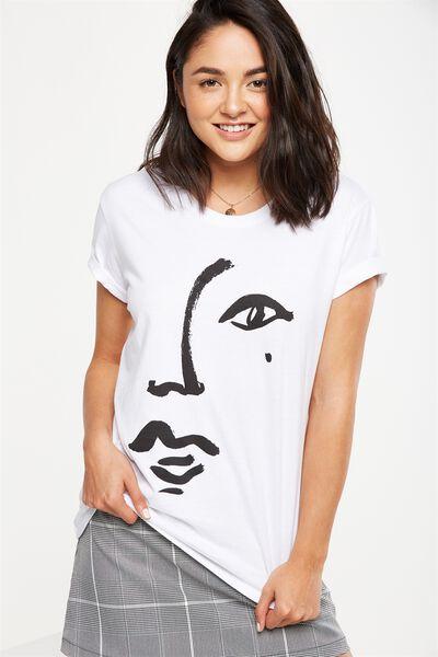 Tbar Fox Graphic T Shirt, BEAUTY SPOT/WHITE