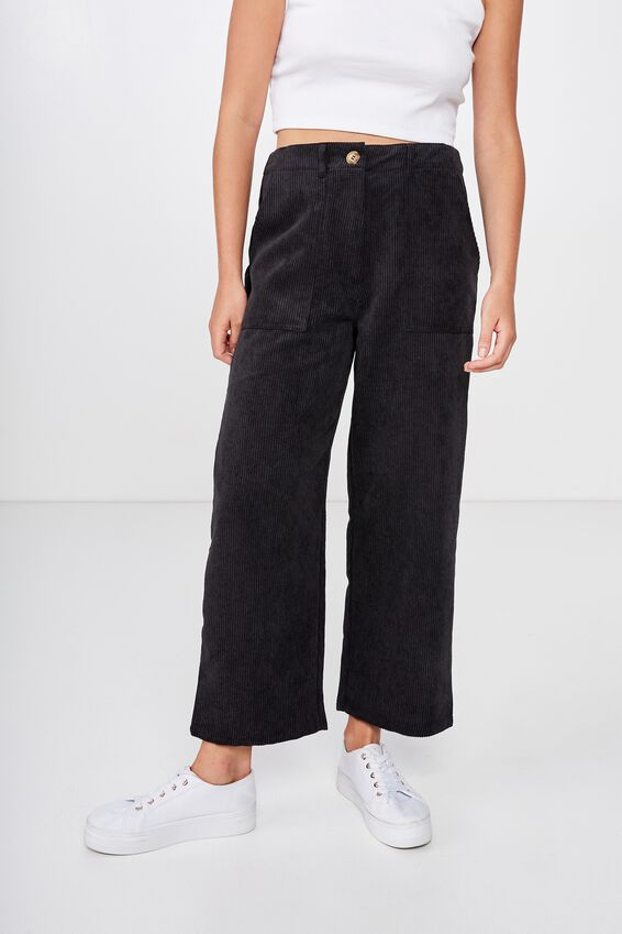 Hattie Cord Pant, BLACK