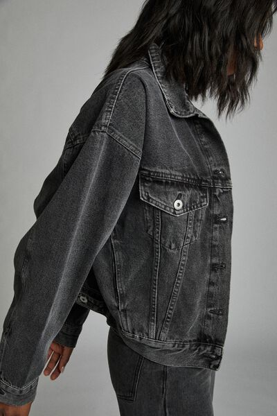 90 S Denim Jacket, RAVEN BLACK