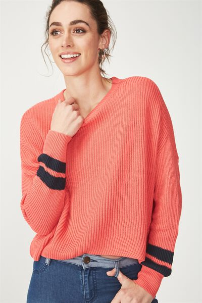 Archy Cropped Pullover, ROSE PETAL/MOONLIGHT ARMBANDS