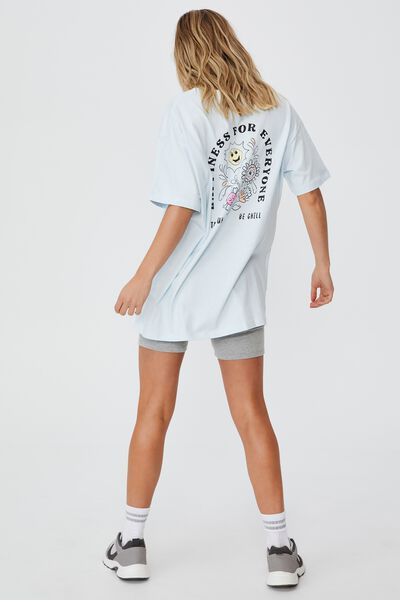 The Relaxed Boyfriend Graphic Tee, HAPPINESS/ILLUSION BUE