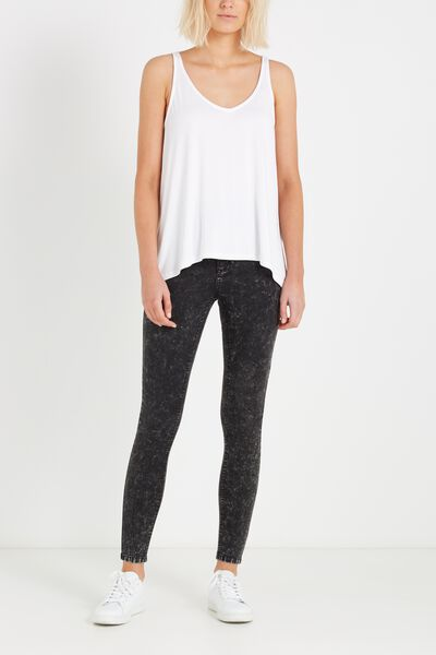 High Rise Jegging, MOTTLED BLACK